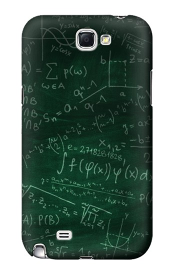 Printed Math Formula Greenboard Samsung Note 2 Case