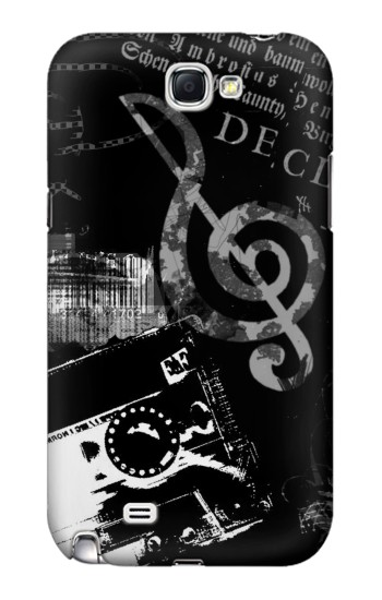 Printed Music Cassette Note Samsung Note 2 Case