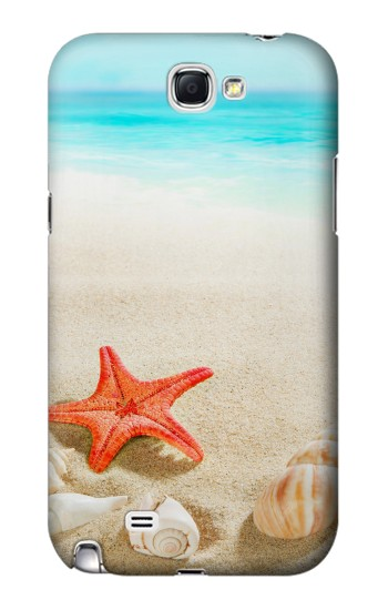 Printed Sea Shells Starfish Beach Samsung Note 2 Case