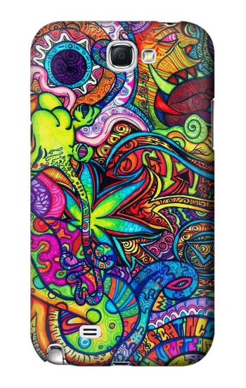 Printed Colorful Art Pattern Samsung Note 2 Case