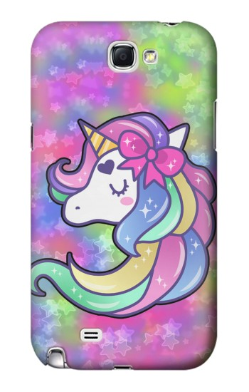 Printed Pastel Unicorn Samsung Note 2 Case