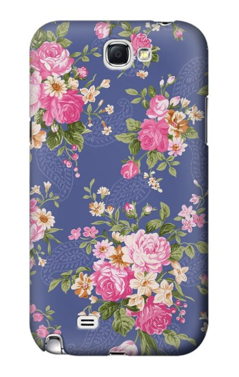 Printed Vintage Flower Pattern Samsung Note 2 Case