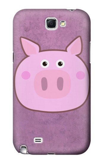 Printed Pig Cartoon Samsung Note 2 Case