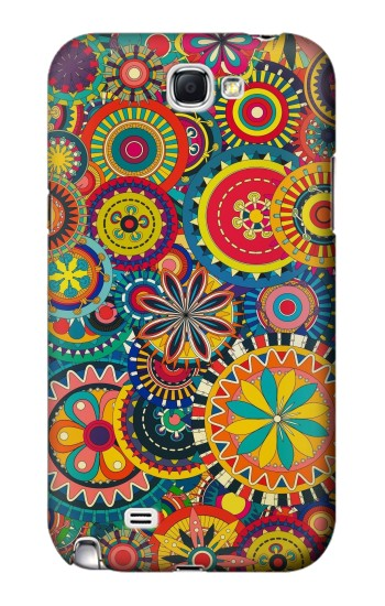 Printed Colorful Pattern Samsung Note 2 Case