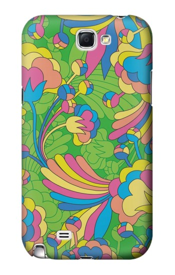 Printed Flower Line Art Pattern Samsung Note 2 Case