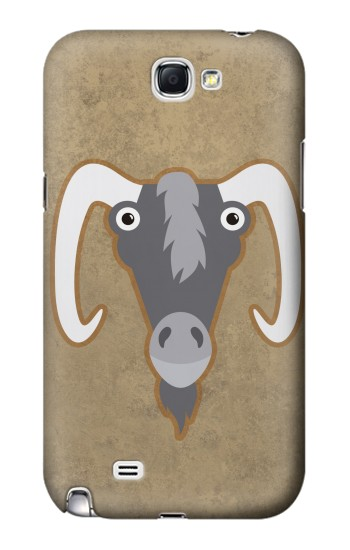 Printed Goat Cartoon Samsung Note 2 Case