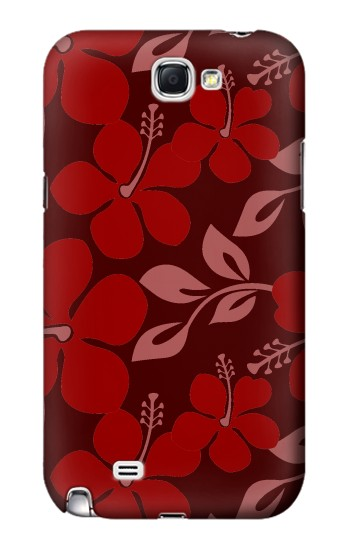 Printed Hawaii Dark Red Pattern Samsung Note 2 Case