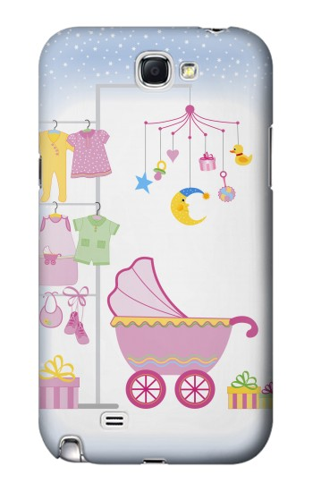 Printed Baby Supplies Samsung Note 2 Case