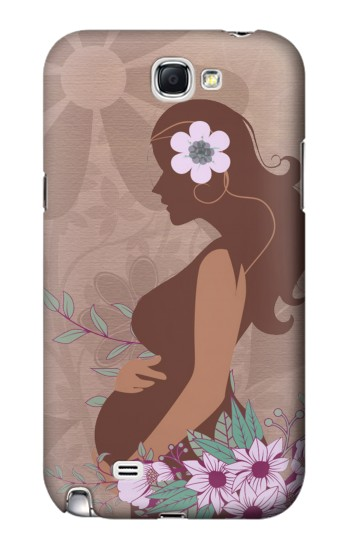 Printed Pregnant Mommy Baby Samsung Note 2 Case