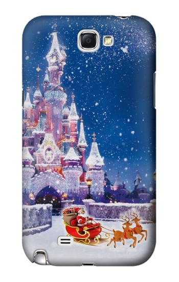 Printed Santa Xmas Castle Samsung Note 2 Case