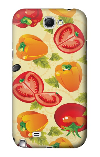 Printed Seamless Food Vegetable Samsung Note 2 Case