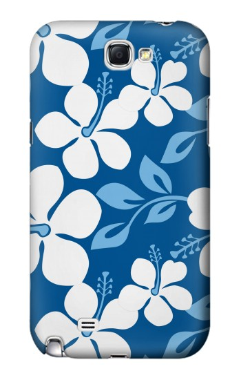 Printed Hawaii Blue Pattern Samsung Note 2 Case