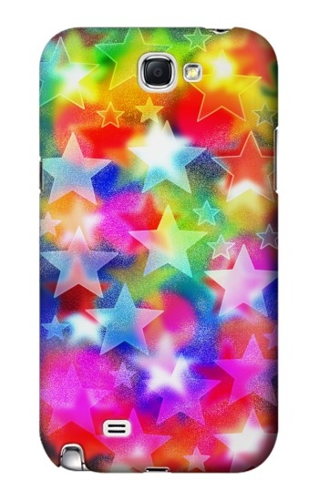 Printed Colourful Disco Star Samsung Note 2 Case