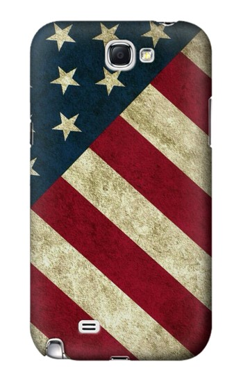Printed US National Flag Samsung Note 2 Case