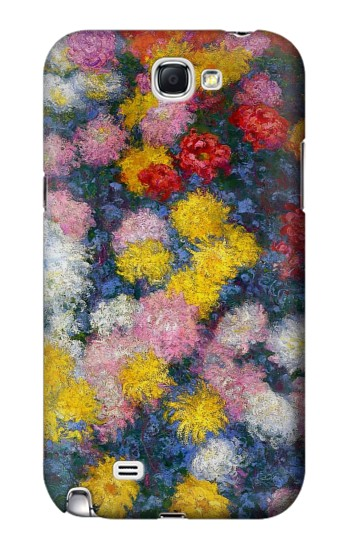 Printed Claude Monet Chrysanthemums Samsung Note 2 Case