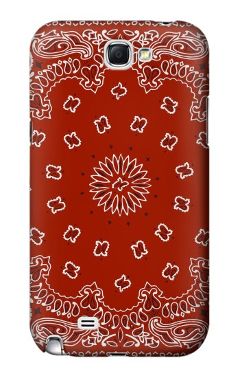 Printed Bandana Red Pattern Samsung Note 2 Case