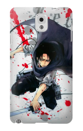 Printed Attack on Titan Rivaille Levi Samsung Note 3 Case