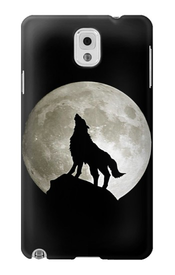 Printed Wolf Howling at The Moon Samsung Note 3 Case