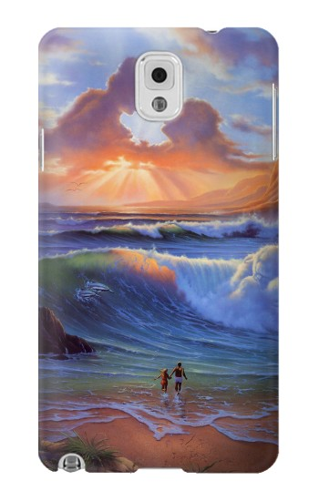 Printed Vintage Paradise Beach Samsung Note 3 Case