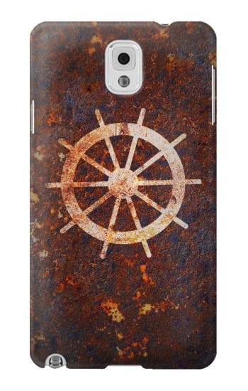 Printed Ship Wheel Rusty Texture Samsung Note 3 Case