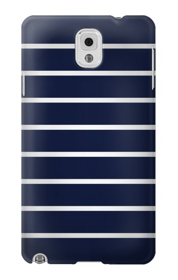 Printed Navy White Striped Samsung Note 3 Case