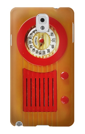 Printed Vintage Bakelite Radio Orange Samsung Note 3 Case