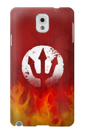 Printed Fire Red Devil Symbol Samsung Note 3 Case