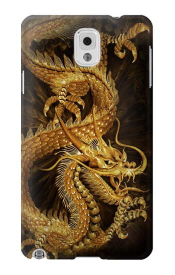 Printed Chinese Gold Dragon Printed Samsung Note 3 Case