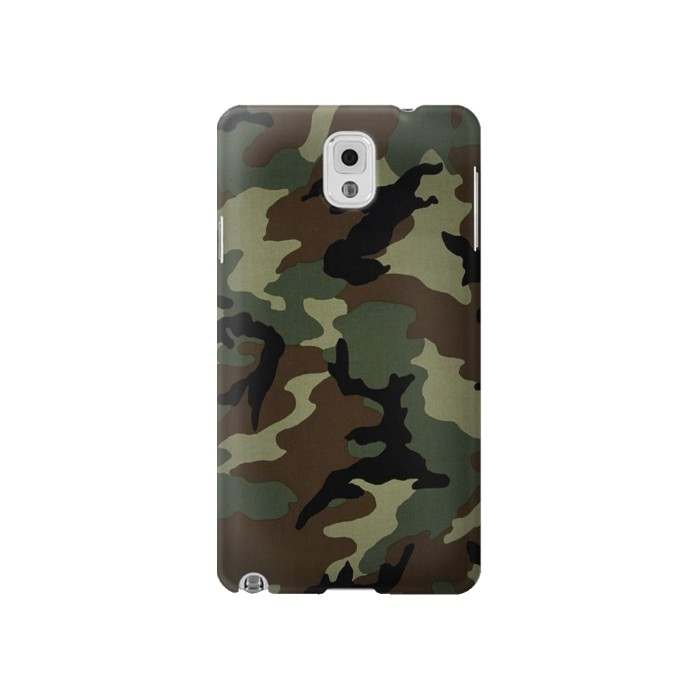 Printed Army Green Woodland Camo Samsung Note 3 Case