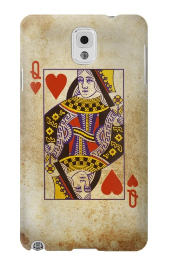 Printed Poker Card Queen Hearts Samsung Note 3 Case
