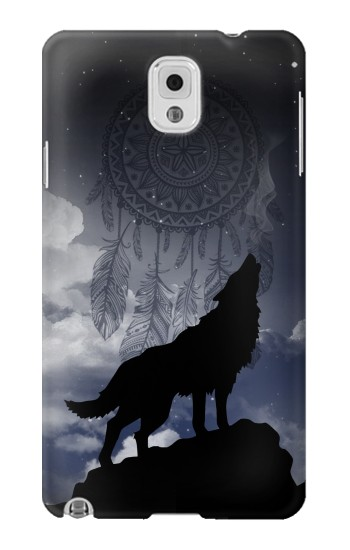 Printed Dream Catcher Wolf Howling Samsung Note 3 Case