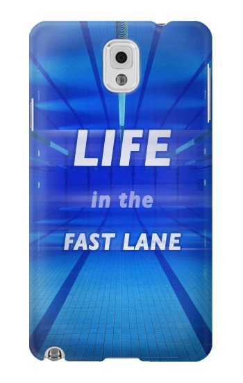 Printed Life in the Fast Lane Swimming Pool Samsung Note 3 Case