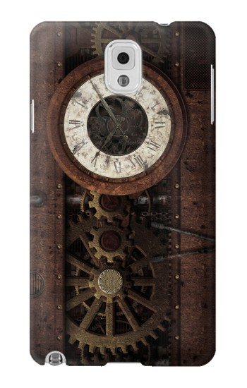 Printed Steampunk Clock Gears Samsung Note 3 Case