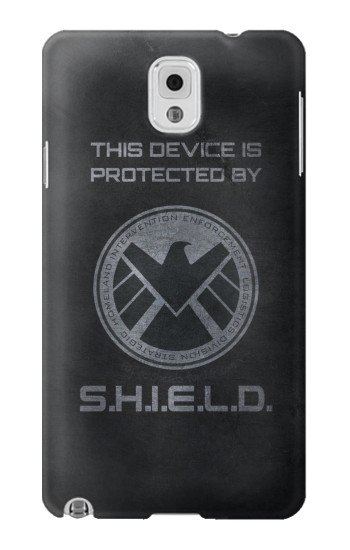 Printed This Device is Protected by Shield Samsung Note 3 Case