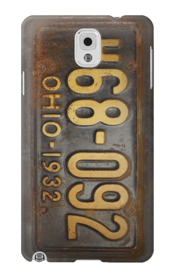 Printed Vintage Car License Plate Samsung Note 3 Case