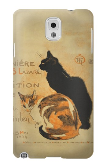 Printed Vintage Cat Poster Samsung Note 3 Case