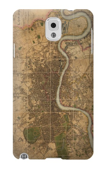 Printed Vintage Map of London Samsung Note 3 Case