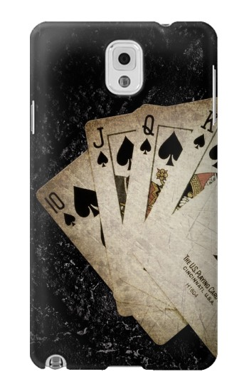 Printed Vintage Royal Straight Flush Cards Samsung Note 3 Case