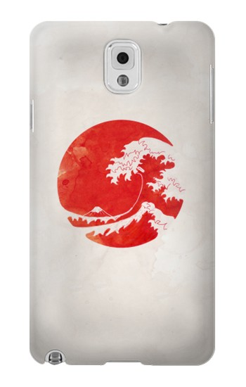 Printed Waves Japan Flag Samsung Note 3 Case