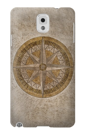 Printed Windrose Circle Stamp Samsung Note 3 Case