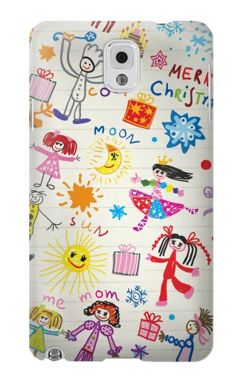 Printed Kids Drawing Samsung Note 3 Case