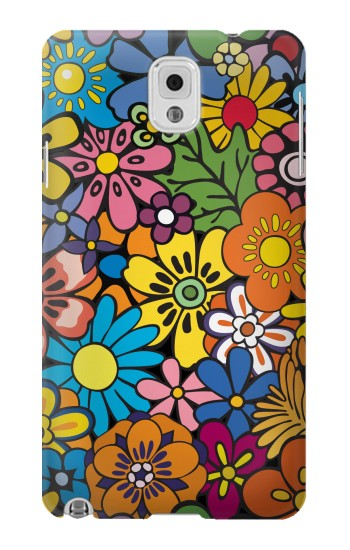 Printed Colorful Flowers Pattern Samsung Note 3 Case
