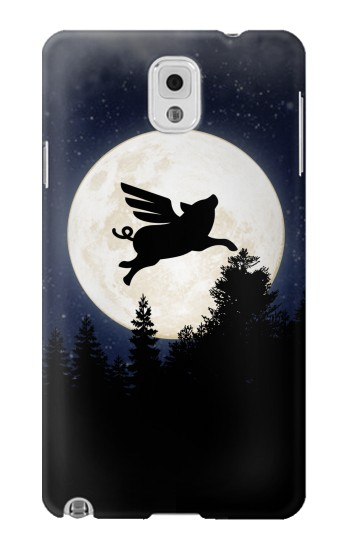 Printed Flying Pig Full Moon Night Samsung Note 3 Case