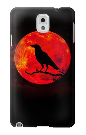 Printed Crow Red Moon Samsung Note 3 Case