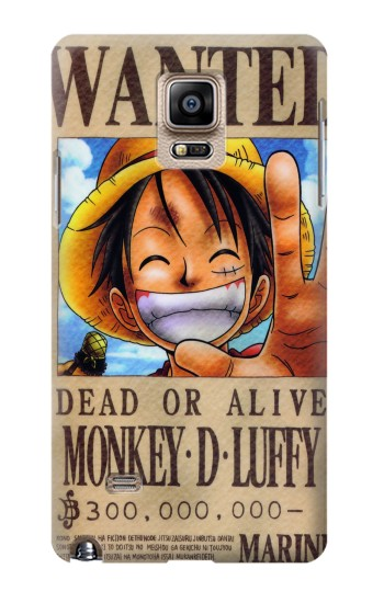 Printed One Piece Monkey D Luffy Wanted Poster Samsung Note 4 Case