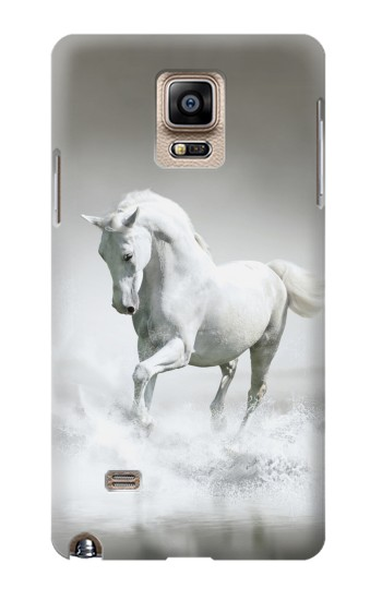 Printed White Horse Samsung Note 4 Case