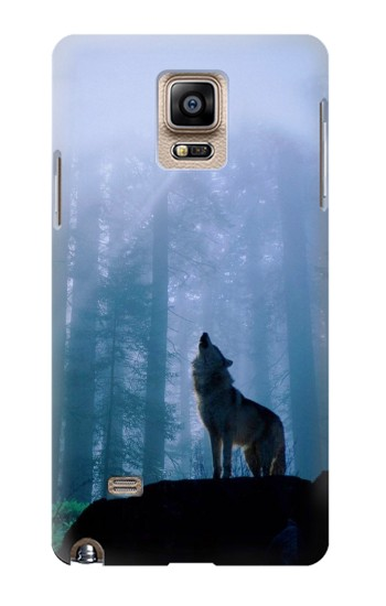 Printed Wolf Howling in Forest Samsung Note 4 Case