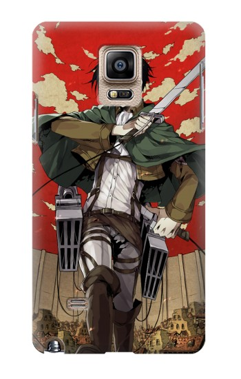 Printed Attack on Titan Rivaille Levi Samsung Note 4 Case