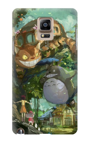 Printed My Neighbor Totoro Cat Bus Samsung Note 4 Case