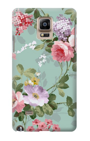 Printed Flower Floral Art Painting Samsung Note 4 Case